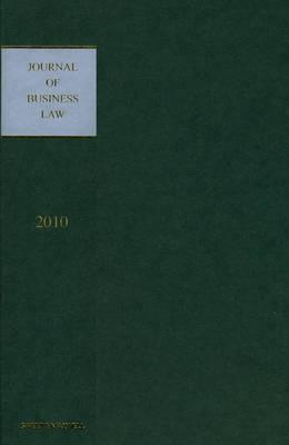 Journal of Business Law 2010 Bound Volume (Hardback)