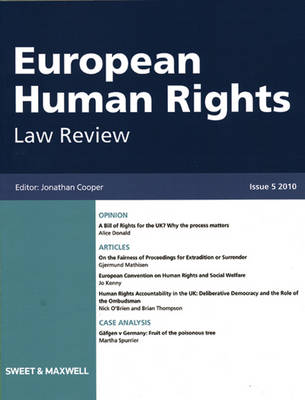 European Human Rights Law Review 2010 Bound Volume (Hardback)