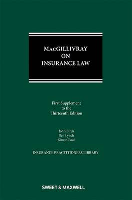 MacGillivray on Insurance Law 1st Supplement (Paperback)