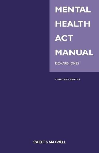 Mental Health Act Manual (Paperback)