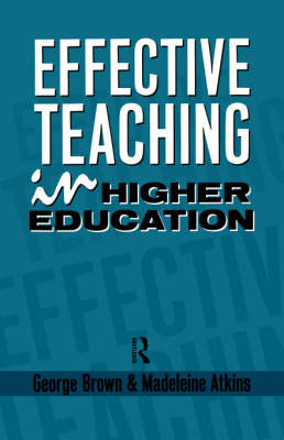 Effective Teaching in Higher Education (Paperback)
