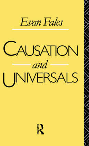 Causation and Universals (Hardback)