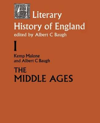 A Literary History of England: Vol 1: The Middle Ages (to 1500) (Paperback)