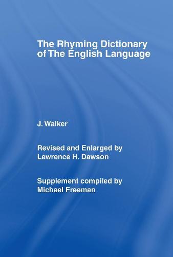 Walker's Rhyming Dictionary of the English Language (Hardback)
