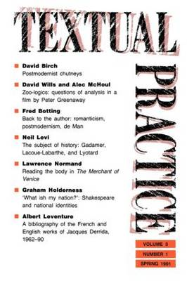 Textual Practice: Volume 5, Issue 1 (Paperback)