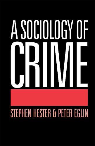 A Sociology of Crime (Paperback)