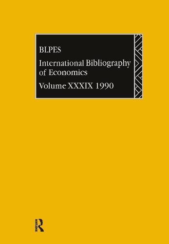 IBSS: Economics: 1990 Vol 39 (Hardback)