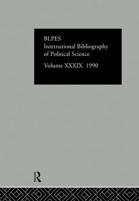 IBSS: Political Science: Volume 39 (Hardback)