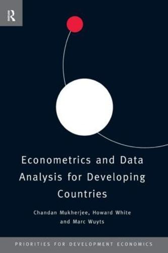 Econometrics and Data Analysis for Developing Countries - Priorities for Development Economics (Paperback)