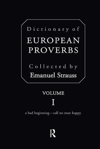 Dictionary of European Proverbs (Hardback)