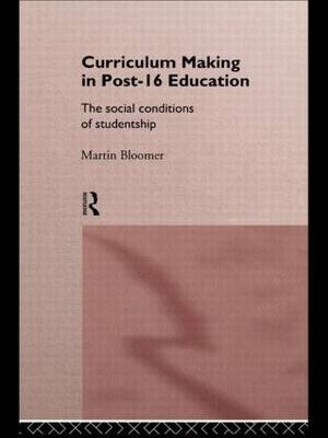 Curriculum Making in Post-16 Education: The Social Conditions of Studentship (Paperback)