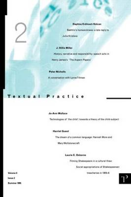 Textual Practice: Volume 9 Issue 2 (Paperback)