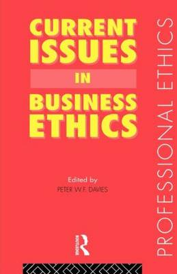 Current Issues in Business Ethics - Professional Ethics (Paperback)