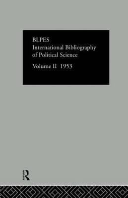 International Bibliography of Political Science: Volume 2 (Hardback)