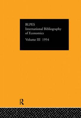 International Bibliography of Economics: Volume 3 (Hardback)