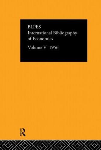 Intl Biblio Econom 1956 Vol 5 (Hardback)