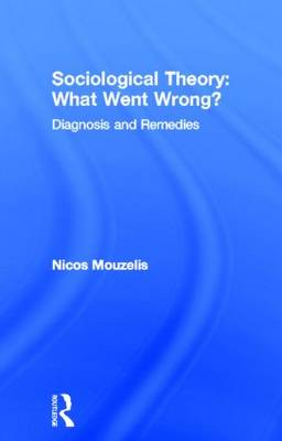 Sociological Theory: What went Wrong?: Diagnosis and Remedies (Hardback)
