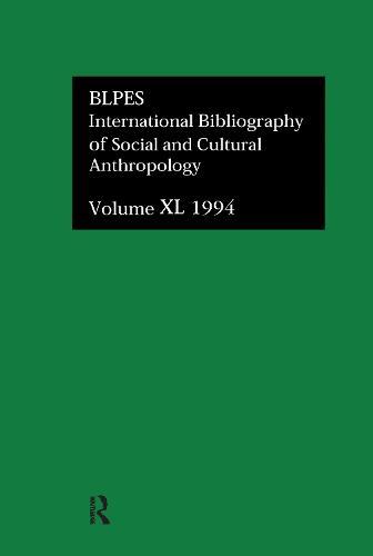 IBSS: Anthropology: 1994 Vol 40 (Hardback)
