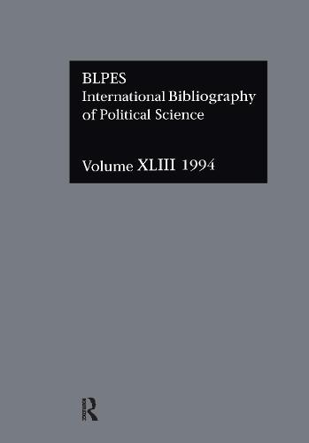IBSS: Political Science: 1994 Vol 43 (Hardback)