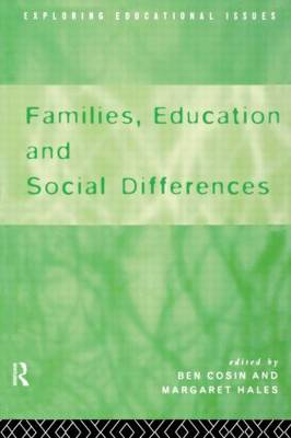 Families, Education and Social Differences (Paperback)