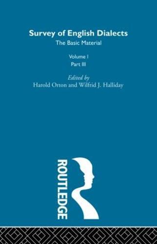 Survey Eng Dialects Vol1 Prt3 (Hardback)