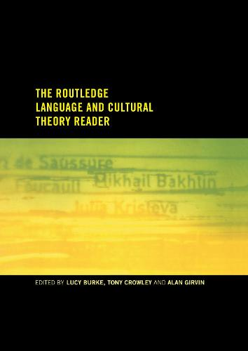 The Routledge Language and Cultural Theory Reader (Hardback)