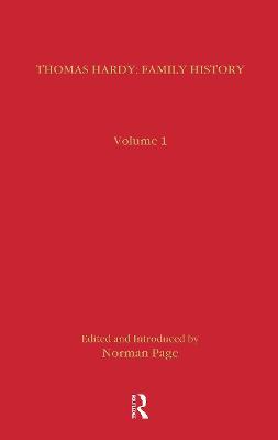 Thomas Hardy: Family History (Hardback)
