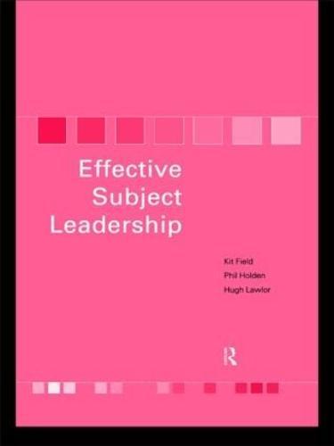 Effective Subject Leadership (Paperback)