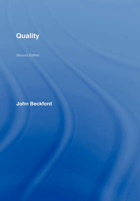 Quality: A Critical Introduction (Hardback)