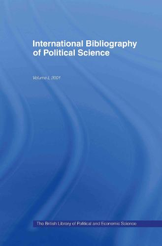 IBSS: Political Science: 2001 Vol.50 (Hardback)