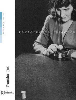 Performance Research V7 Issu 2 (Paperback)