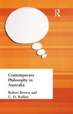 Contemporary Philosophy in Australia (Hardback)