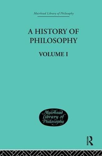 History of Philosophy: Volume I (Hardback)