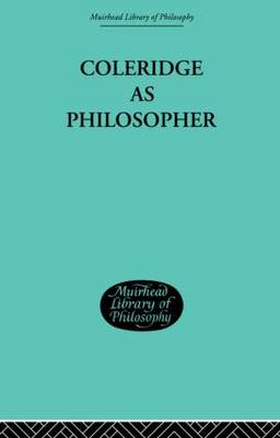 Coleridge as Philosopher (Hardback)