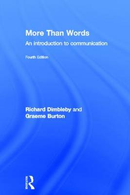 More Than Words: An Introduction to Communication (Hardback)