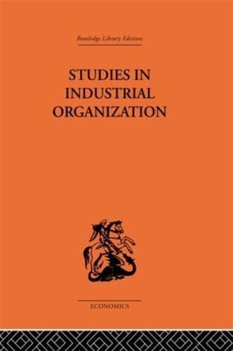 Studies in Industrial Organization (Hardback)