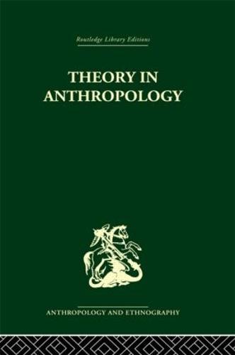 Theory In Anthropol Liban V86 (Hardback)
