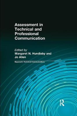 Assessment in Technical and Professional Communication (Paperback)