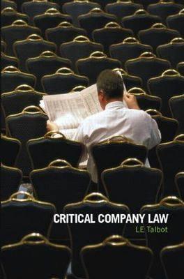 Critical Company Law (Paperback)