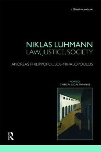Niklas Luhmann: Law, Justice, Society (Hardback)