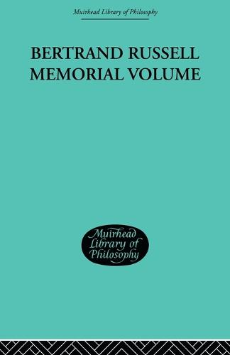 Bertrand Russell Memorial Volume (Paperback)