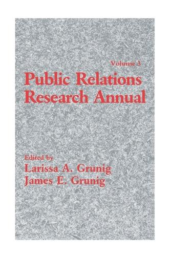 Public Relations Research Annual: Volume 3 (Paperback)
