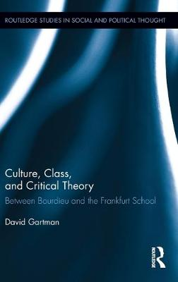 Culture, Class, and Critical Theory: Between Bourdieu and the Frankfurt School (Hardback)
