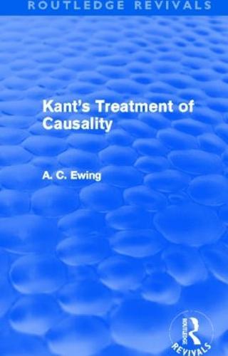 Kant's Treatment of Causality (Hardback)