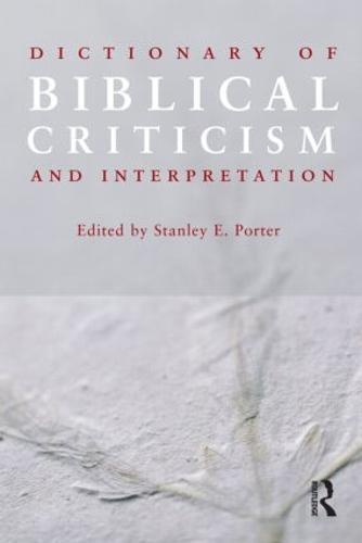 Dictionary of Biblical Criticism and Interpretation (Paperback)