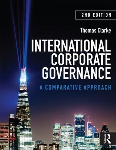 International Corporate Governance: A Comparative Approach (Paperback)