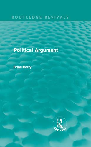 Political Argument - Routledge Revivals (Hardback)