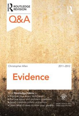 Q&A Evidence 2011-2012 - Questions and Answers (Paperback)