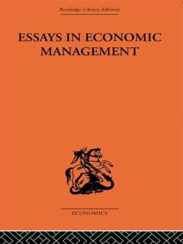 Essays in Economic Management (Paperback)