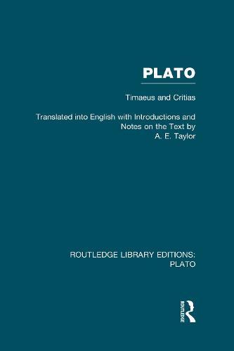 Plato: Timaeus and Critias - Routledge Library Editions: Plato (Hardback)